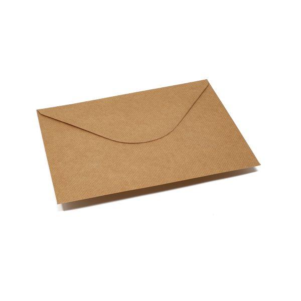 Vokai C5 – perdirbto popieriaus rantyti (Brown craft Ribbed)