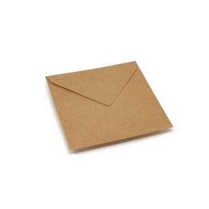 Vokai Kvadratiniai – perdirbto popieriaus rantyti (Brown craft Ribbed)