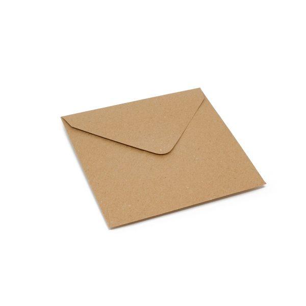 Vokai Kvadratiniai 130x130 – perdirbto popieriaus (Brown craft Flecked)